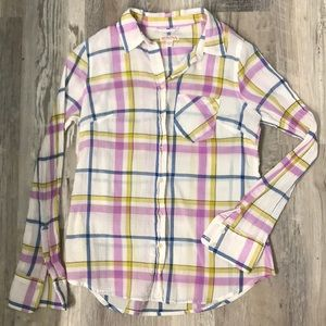 EUC Plaid Long Sleeve Shirt